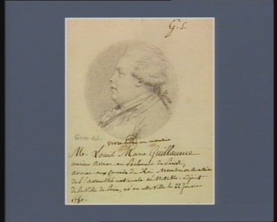 Louis Marie Guillaume ancien avocat au Parlement de <em>Paris</em> avocat aux conseils du Roi membre et secrétaire de l'Assemblée nationale et notable-adjoint de la ville de <em>Paris</em>, né en cette ville le 22 janvier 1750 : [dessin]