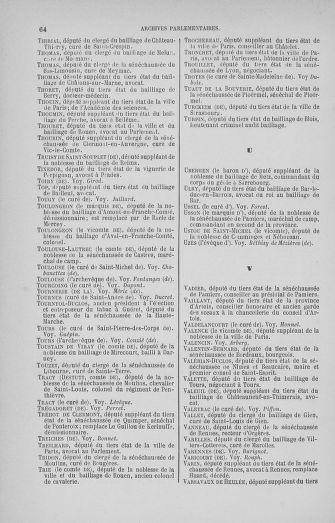 Tome 33 : Table générale alphabétique de l'Assemblée nationale Constituante - page 64