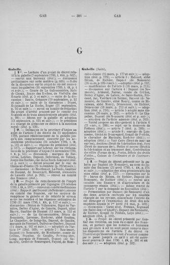 Tome 33 : Table générale alphabétique de l'Assemblée nationale Constituante - page 381