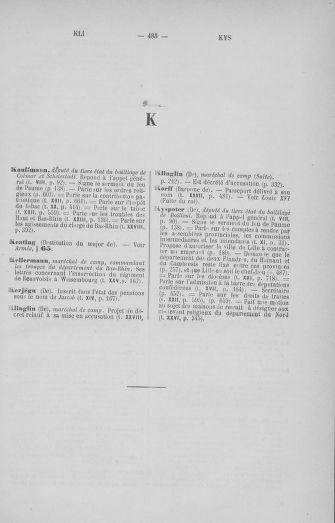 Tome 33 : Table générale alphabétique de l'Assemblée nationale Constituante - page 435
