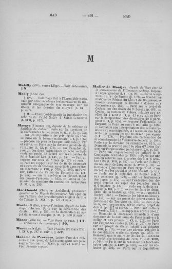 Tome 33 : Table générale alphabétique de l'Assemblée nationale Constituante - page 492