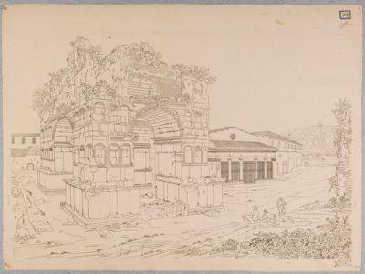 Velabro, veduta del Giano e del portico di San Giorgio
