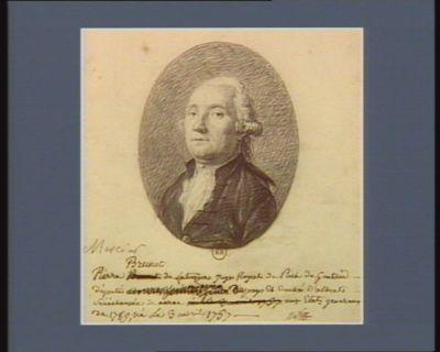 Pierre Brunet de Latuque Juge Royal de Puch de Gontaud, député [...] du pays et Duché D'albret, Sénéchaussée de nerac aux Etats generaux de 1789, né Le 3 avril 1757 : [dessin]