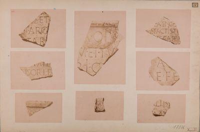 Foro di Augusto, frammenti di iscrizioni