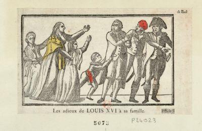 Les  Adieux de <em>Louis</em> <em>XVI</em> à sa famille [estampe]