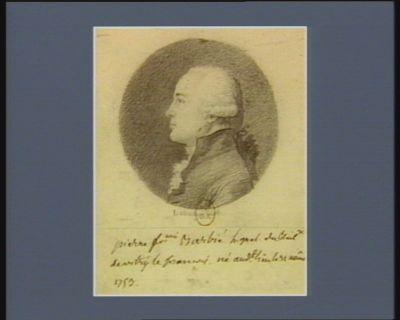 Pierre Fr.çois Barbié l. g.n.al du bail.ge de Vitry le François né aud.t lieu le 31 aout 1753 : [dessin]