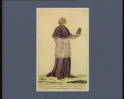 Antoine Eléonore Léon le Clerc de Juigné de Neuchelles archevêque de Paris duc de St Cloud pair de France et député de Paris. Né à Paris en 1728. Nommé à l'Archeveché le 23 décembre 1781 : [estampe]