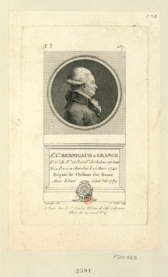 J.n L.is Bermigaud de Grange l.t g.l du b.ge et présid.t de Chalons sur Saone né à Persi en Chardois le 25 mars 1740 député de Châlons-sur-Saone aux Etats génér. x de 1789 : [estampe]