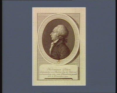 Hieronimus Petion Deputirter von Chartres bey der Nationalversammlung 1789, zum Praesidenten genvahlt den 4 December <em>1790</em> : [estampe]