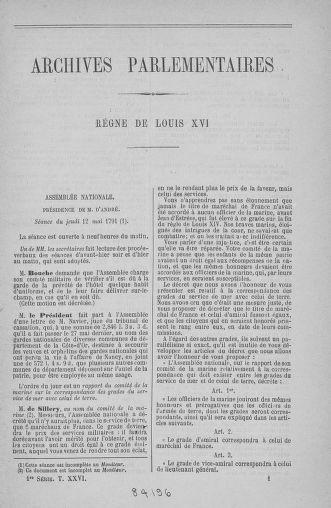 Tome 26 : Du 12 mai au 5 juin 1791 - page 1