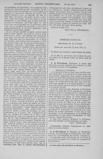Tome 26 : Du 12 mai au 5 juin 1791 - page 189