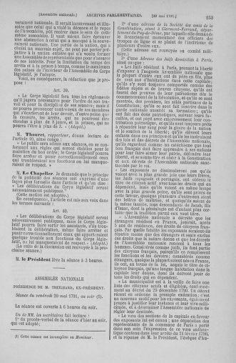 Tome 26 : Du 12 mai au 5 juin 1791 - page 253