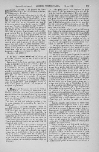 Tome 26 : Du 12 mai au 5 juin 1791 - page 263