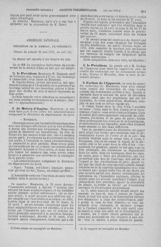 Tome 26 : Du 12 mai au 5 juin 1791 - page 281