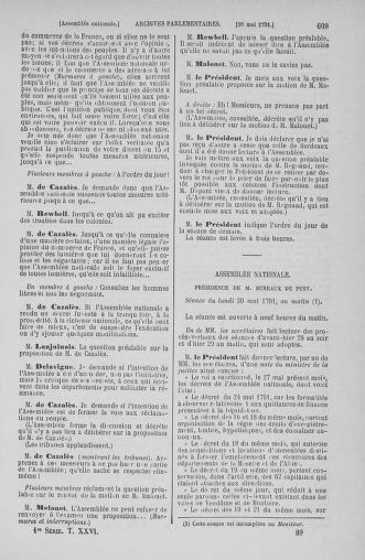Tome 26 : Du 12 mai au 5 juin 1791 - page 609
