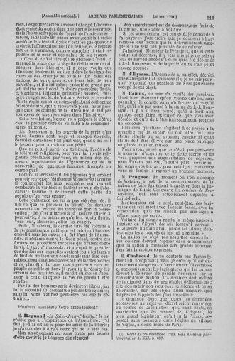 Tome 26 : Du 12 mai au 5 juin 1791 - page 611