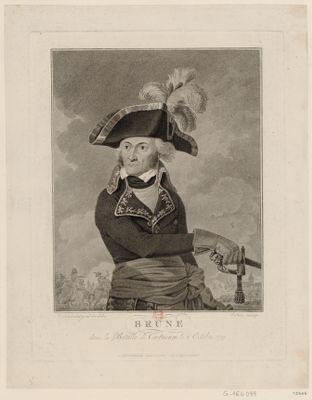 Brune dans la bataille de Castricum, le 6 octobre, 1799 [estampe]