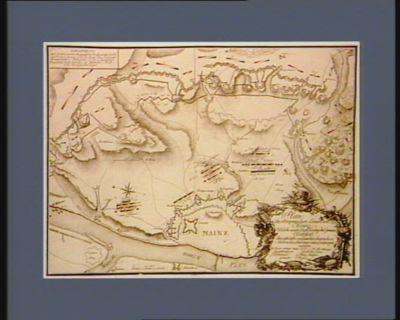 Plan der franzoesischen Linien vor Mainz welche unter Anführung des grosen Clairfait den 29.ten Oct.br. 1795 von den siegreichen oestreicher sind gestürmt <em>u</em>. erstiegen worden [estampe]