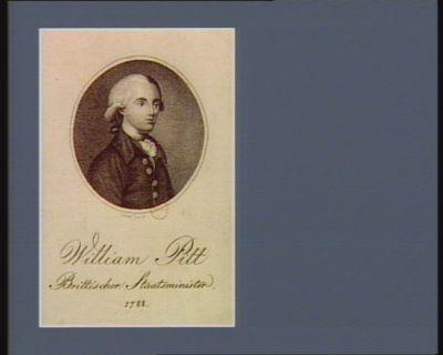 William Pitt brittischer Staatsminister 1788 : [estampe]