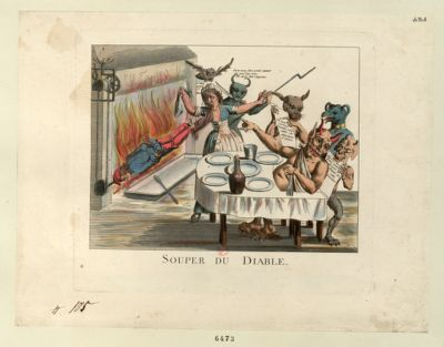 Souper du diable [estampe]