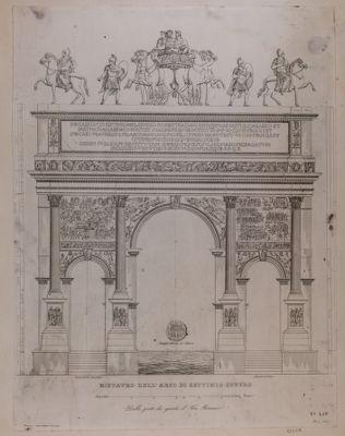 Arco di Settimio Severo, disegno architettonico a s. c