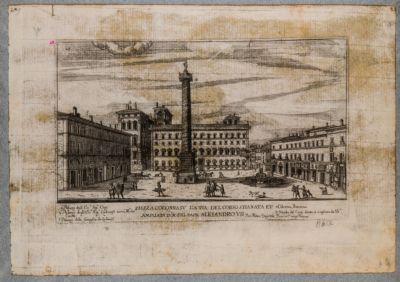 Piazza Colonna, veduta verso mezzogiorno