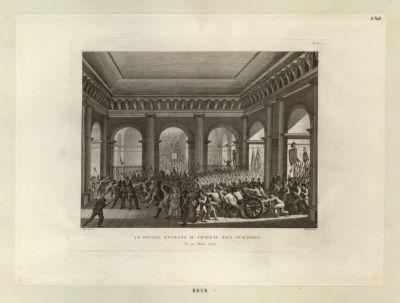 Le  Peuple entrant au chateau des Tuileries le 20 juin 1792 : [estampe]