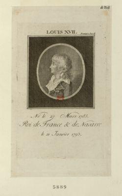 Louis XVII né le 27 mars 1785, roi de France & de Navarre le 21 janvier 1793 : [estampe]