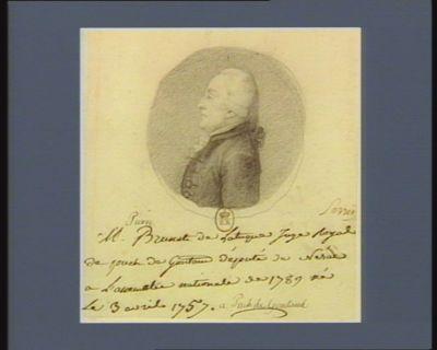 M. Pierre Brunet de Latuque juge royal de Puch de Gontaud député de Nérac à l'Assemblée nationale de 1789 né le 3 avril 1757 à Puch de Gontaud : [dessin]