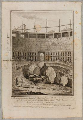 Veduta di una porzione del mausoleo di Augusto
