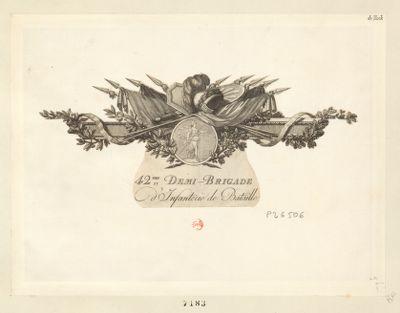 42.me demi-brigade d'infanterie de bataille [estampe]