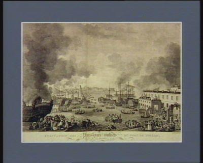 Evacüation des puissances coalisées du port de Toulon le 18 decembre 1793 : [estampe]