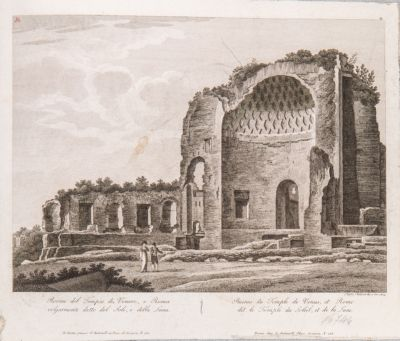 Tempio di Venere e Roma, cella verso il Colosseo