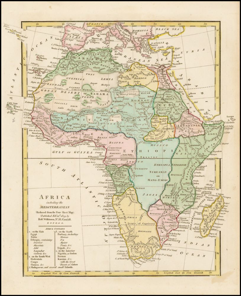 Map Of Africa 1800.Africa Barry Lawrence Ruderman Map Collection Spotlight At Stanford