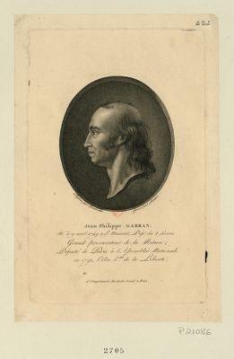 Jean Philippe Garran né le 19 avril 1749 à St. Maixent, dépt. des 2 Sèvres, grand procurateur de la <em>nation</em>, député de Paris à l'Assemblée nationale en 1791, l'an 3.eme de la Liberté : [estampe]