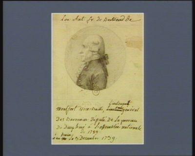Lou. Ant. Fr. de Bertrand de Montfort vice-bailli, lieutenant général des baronnies, député de la province de Dauphiné à l'Assemblée nationale de 1789, né au Buis le 3 décembre 1739 : [dessin]