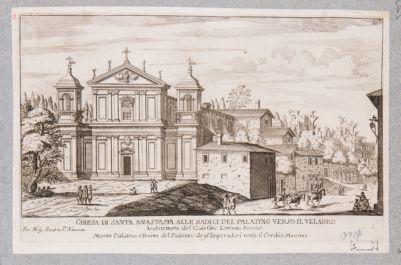 Chiesa di S. Anastasia, prospetto e piazza
