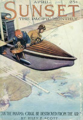 Sunset Magazine cover. April 1914