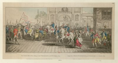 The  Paris Militia setting out for Versailles on the 5.th of October 1789 [estampe]