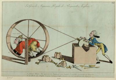 La  Grande aiguiserie royale de poignards anglais le fameux Pitt aiguisant les poignards... : [estampe]