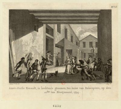 Aimée-Cecile Renault, in hechtenis genomen, ten huise van Robespiere [estampe]