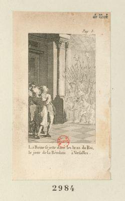 La  Reine se jette dans les bras du roi, le jour de la Révolution à Versailles [estampe]
