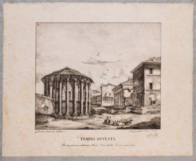 Foro Boario. I templi e Casa dé Crescenzi da piazza Bocca della Verità
