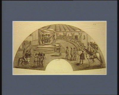 La  Reseption du général Buonaparte au Directoire annoncant le traite de lempereure lan 1797 [estampe]
