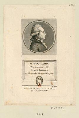 M. Boutaric né à Figeac en 1756 député du Quercy à l'Assemblée nationale de 1789 : [estampe]
