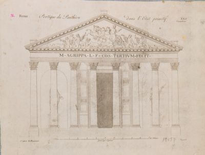 Pantheon, portico, stato primitivo