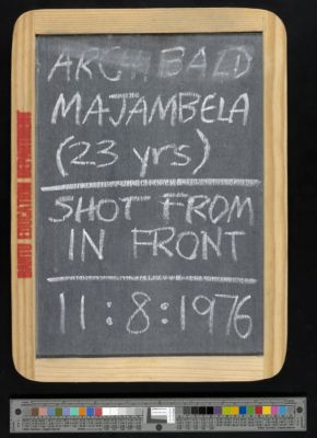 Archibald Majambela (23 years), shot from in front, 11:8:1976