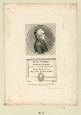 Fran.çois Symon : recteur de la Boussacq ne à Vil de la Marine le 23 janvier 1742 député de Bretagne à l'Assemblée nationale de 1789 : [estampe]