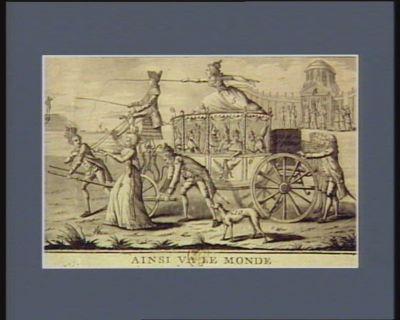 Ainsi va le monde dedié à tout ce qui reste <em>de</em> princes et <em>de</em> potentats en Europe 1. lempereur 2. la Reine <em>de</em> Fr. 3 Louis XVI... : [estampe]