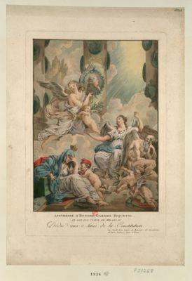 Apothéose d'Honoré Gabriel Riquetti, ci-devant comte de Mirabeau dédié aux amis de la Constitution par Claude Hoin... : [estampe]